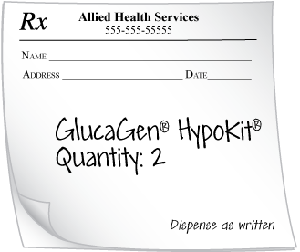 Prescription for GlucaGen HypoKit (2)